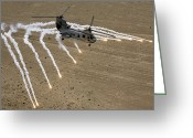 Arid Climate Greeting Cards - A U.s. Marine Corps Ch-46 Sea Knight Greeting Card by Stocktrek Images