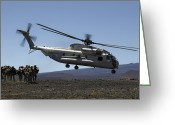 Large Group Greeting Cards - A U.s. Marine Corps Ch-53d Seahawk Greeting Card by Stocktrek Images