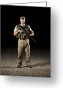 Police Officers Greeting Cards - A U.s. Police Officer Contractor Greeting Card by Terry Moore