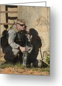 Hurlburt Field Greeting Cards - A U.s. Special Operations Soldier Greeting Card by Stocktrek Images