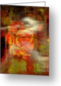 Symbolic Waiting Greeting Cards - A Valentines Day Betrayal Greeting Card by Fania Simon