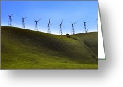 Pacific Coast States Greeting Cards - A Vehicle Dwarfed By Looming Wind Greeting Card by Amy White & Al Petteway