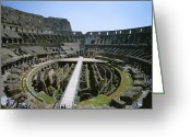 Latium Region Greeting Cards - A View Inside Romes Colosseum Greeting Card by Taylor S. Kennedy