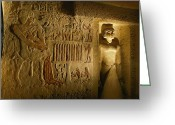 Antiquities And Artifacts Greeting Cards - A View Inside The Tomb Of Iasen Greeting Card by Kenneth Garrett