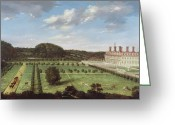English Garden And House Greeting Cards - A View of Bayhall - Pembury Greeting Card by Jan Siberechts
