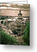 Kingston City Hall Greeting Cards - A view of Kingston Ontario Greeting Card by Michel Soucy