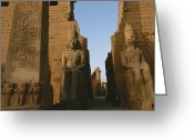 Complex Greeting Cards - A View Of Luxor Temple Greeting Card by Kenneth Garrett