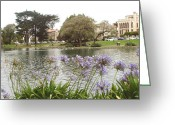 Flower Works Greeting Cards - A view of Palace of Fine Arts theatre San Francisco No five Greeting Card by Hiroko Sakai