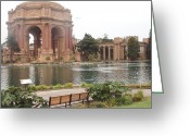 Flower Works Greeting Cards - A view of Palace of Fine Arts theatre San Francisco No one Greeting Card by Hiroko Sakai