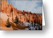 Winter Views Greeting Cards - A View Of The Hoodoos And Other Eroded Greeting Card by Taylor S. Kennedy