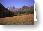 Lanscape Photo Greeting Cards - A View Of The Maroon Bells Mountains Greeting Card by Taylor S. Kennedy