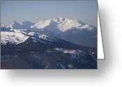 Precipitation Greeting Cards - A View Of The Mountains Greeting Card by Taylor S. Kennedy
