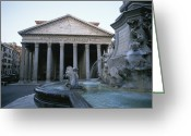Latium Region Greeting Cards - A View Of The Pantheon In Rome Greeting Card by Taylor S. Kennedy