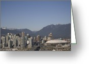 Of Buildings Greeting Cards - A View Of The Skyline Of Vancouver, Bc Greeting Card by Taylor S. Kennedy