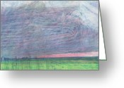 Lancaster Pastels Greeting Cards - A view towards Pilling  Greeting Card by Andy  Mercer