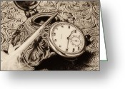 Ink Well Greeting Cards - A Vintage Still Life Greeting Card by Tom Mc Nemar