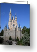Cinderella Greeting Cards - A Walk By The Castle Greeting Card by Rachel E Moniz