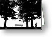 Photographs Digital Art Greeting Cards - A Walk In The Park Greeting Card by Artecco Fine Art Photography - Photograph by Nadja Drieling