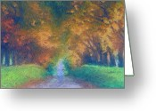 Karen Conine Greeting Cards - A Walk Into Nature Greeting Card by Karen Conine