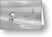 Bonnes Eyes Fine Art Photography Greeting Cards - A walk on the beach Greeting Card by Bonnes Eyes Fine Art Photography