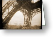 Street Lamps Greeting Cards - A Walk Through Paris 13 Greeting Card by Mike McGlothlen