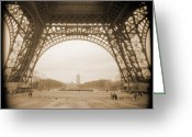 White Digital Art Greeting Cards - A Walk Through Paris 14 Greeting Card by Mike McGlothlen