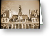 Sepia Toned Greeting Cards - A Walk Through Paris 15 Greeting Card by Mike McGlothlen