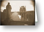 Sepia Greeting Cards - A Walk Through Paris 16 Greeting Card by Mike McGlothlen
