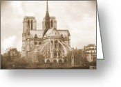 Notre Dame Greeting Cards - A Walk Through Paris 25 Greeting Card by Mike McGlothlen