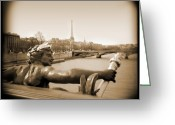 Camera Digital Art Greeting Cards - A Walk Through Paris 7 Greeting Card by Mike McGlothlen