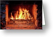 Christopher Holmes Photography Greeting Cards - A Warm Hearth Greeting Card by Christopher Holmes