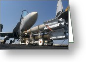 Paveway Greeting Cards - A Weapons Skid Carrying 500-pound Greeting Card by Stocktrek Images