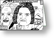 News Mixed Media Greeting Cards - A Week in the life of Helen Thomas by Yonatan Frimer Greeting Card by Yonatan Frimer Maze Artist