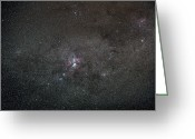Carina Nebula Greeting Cards - A Wide Field View Centered On The Eta Greeting Card by Luis Argerich