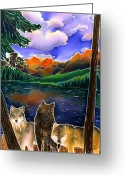 Yellowstone Landscape Art Greeting Cards - A Wild Place Greeting Card by Harriet Peck Taylor
