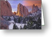 Winter Scenes Photo Greeting Cards - A Winter Morning Greeting Card by Tim Reaves