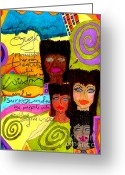 Survivor Mixed Media Greeting Cards - A Woman Oughta Know... Greeting Card by Angela L Walker