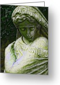 Emotion Art Greeting Cards - A Womans Sorrow Greeting Card by Colleen Kammerer