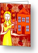 Partner Greeting Cards - A Womans Work Is Never Done Greeting Card by Patrick J Murphy