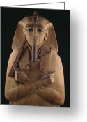 Aristocracy And Royalty Greeting Cards - A Wooden Coffin Case Of The Pharaoh Greeting Card by O. Louis Mazzatenta