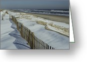 Wood Fences Greeting Cards - A Wooden Fence Casts A Shadow Greeting Card by Medford Taylor