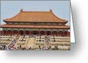 Forbidden City Greeting Cards - A World Away - The Forbidden City Greeting Card by Christine Segalas
