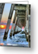 Wilmington Greeting Cards - A Wrightsville Beach Morning Greeting Card by JC Findley