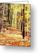Upstate Ny Greeting Cards - A Yellow Wood Greeting Card by Joshua House