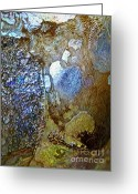 Shell Texture Greeting Cards - Abalone Essence Greeting Card by Gwyn Newcombe