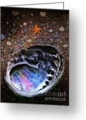 Abalone Seashell Greeting Cards - Abalone Greeting Card by Robert Foster
