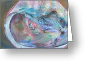 Abalone Seashell Greeting Cards - Abalone Greeting Card by Sunny Seal