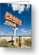 Motel Greeting Cards - Abandonded Motel Greeting Card by Peter Tellone