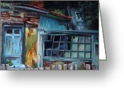 Abandoned House Painting Greeting Cards - Abandoned Greeting Card by Anda Cofaru