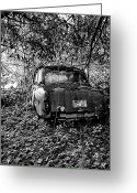 Gray-scale Greeting Cards - Abandoned BW PT Greeting Card by Kevin D Davis